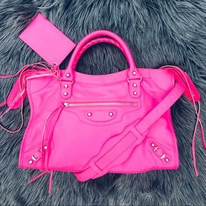 ✨Limited Edition✨Balenciaga hot pink city bag